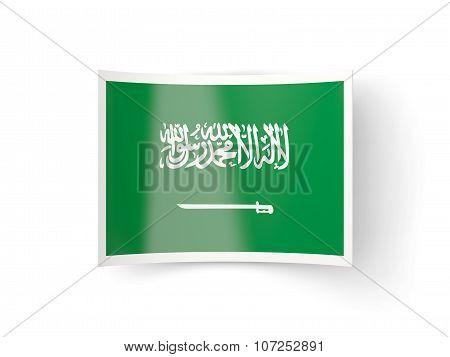 Bent Icon With Flag Of Saudi Arabia