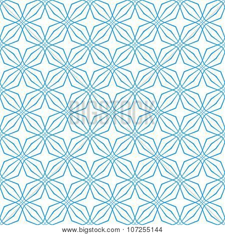 Seamless geometric latticed texture. Vector art.