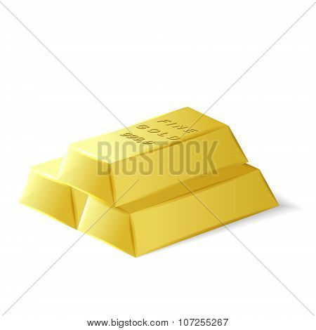 Fine Quality 3D Gold Bars