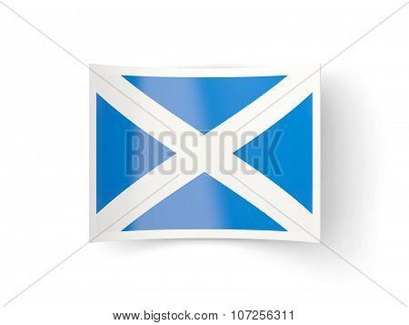 Bent Icon With Flag Of Scotland