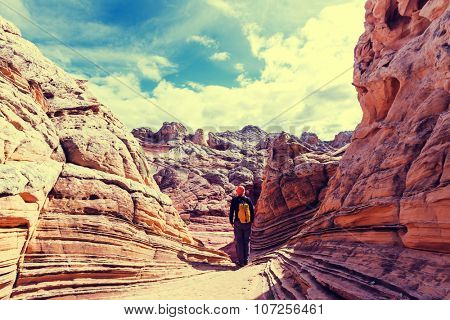 Hike in Vermilion Cliffs National Monument ,Utah,USA