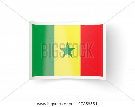 Bent Icon With Flag Of Senegal