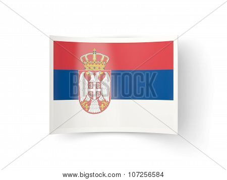 Bent Icon With Flag Of Serbia