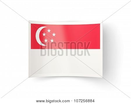 Bent Icon With Flag Of Singapore