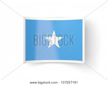 Bent Icon With Flag Of Somalia