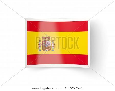 Bent Icon With Flag Of Spain