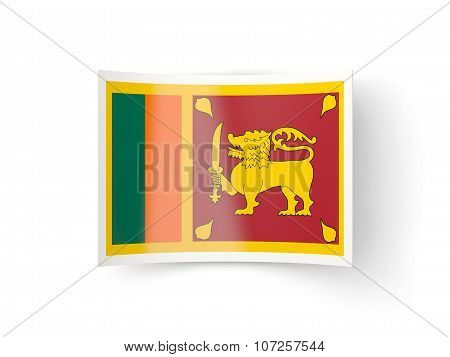 Bent Icon With Flag Of Sri Lanka