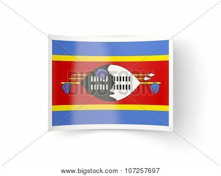Bent Icon With Flag Of Swaziland