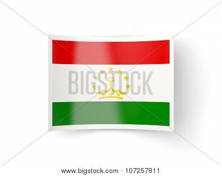 Bent Icon With Flag Of Tajikistan