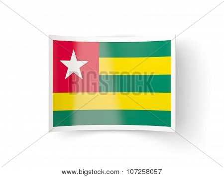 Bent Icon With Flag Of Togo