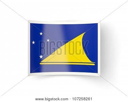 Bent Icon With Flag Of Tokelau