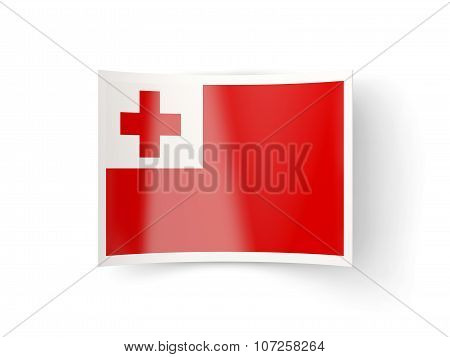 Bent Icon With Flag Of Tonga