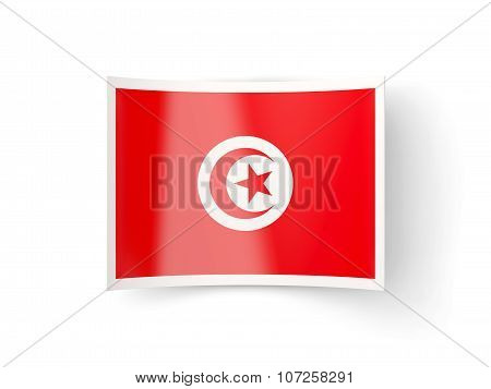 Bent Icon With Flag Of Tunisia