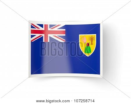 Bent Icon With Flag Of Turks And Caicos Islands