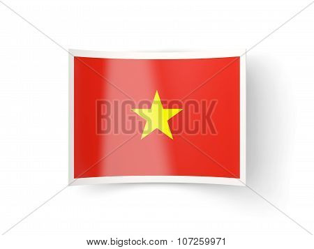 Bent Icon With Flag Of Vietnam