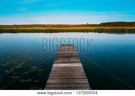 Calm River Nature Background