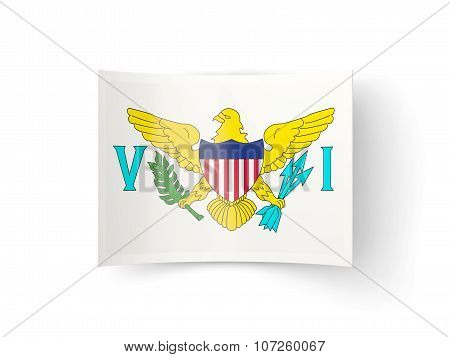 Bent Icon With Flag Of Virgin Islands Us