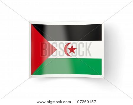 Bent Icon With Flag Of Western Sahara