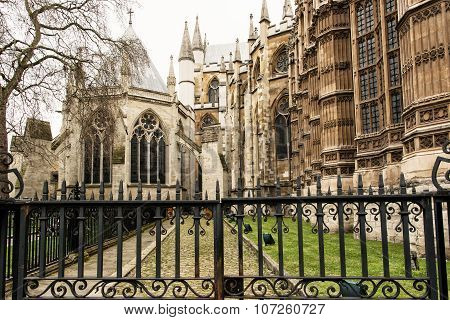 Majestic Westminster Abbey In London, Great Britain, Cultural Heritage