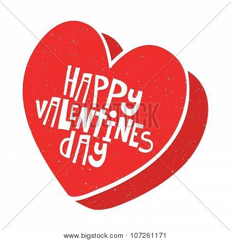 Happy Valentines Day candy box vector illustration