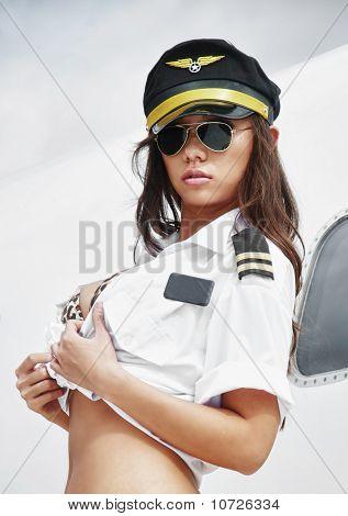 Sexy pilot girl