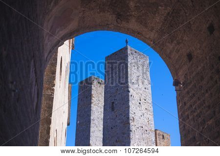 Italian medieval tower in Tuscany