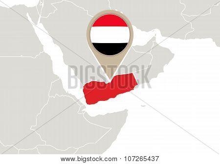 Yemen On World Map