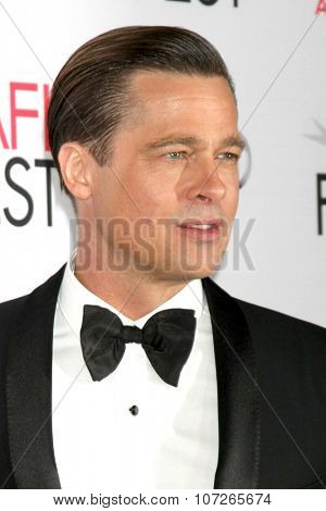 LOS ANGELES - NOV 5:  Brad Pitt at the AFI FEST 2015 Presented By Audi Opening Night Gala Premiere of