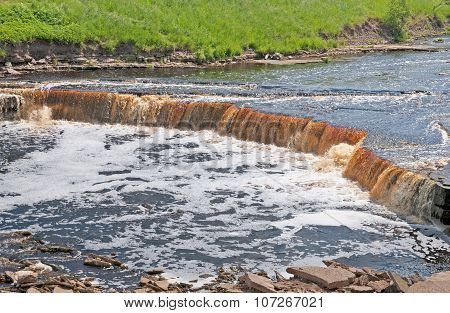 River with waterfall