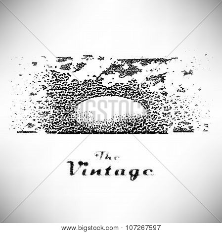 Background ball with shadow engraved dots and spots in vintage s