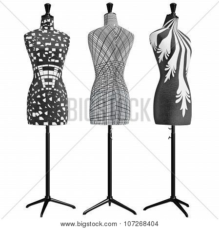Classical female mannequins headless