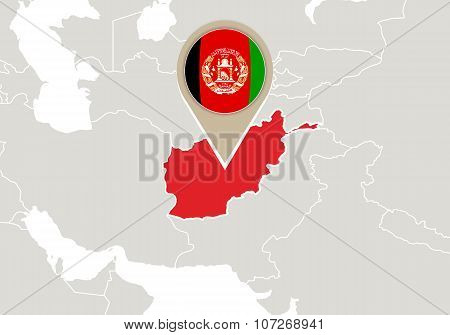 Afghanistan On World Map