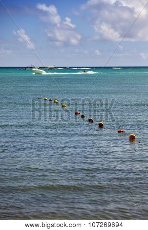 buoys in the sea