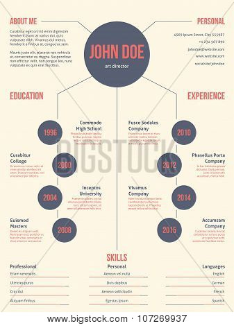 Simplistic But Cool Modern Resume Cv Template