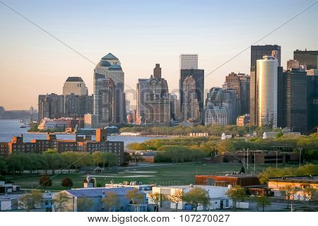 Governors Island And Manhattan Financial District