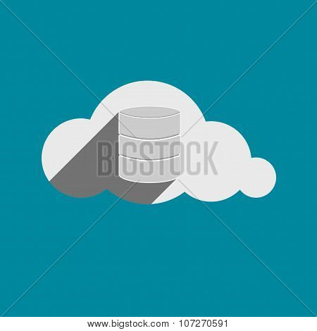Storage Drives Sign In Cloud Flat Design Icon