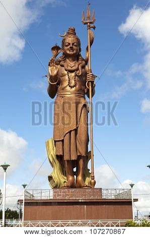 Mauritius. Shiva statue at lake Grand Bassin temple
