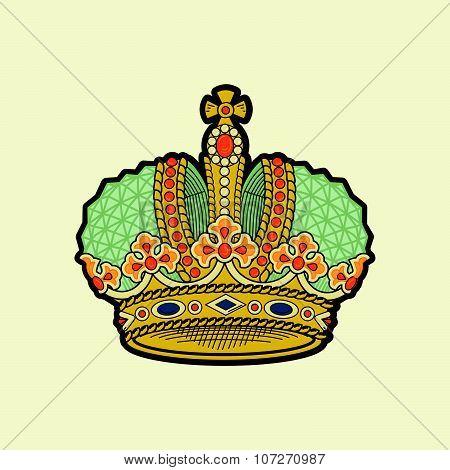 Vector royal crown illustration.