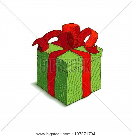 Colorfull vector Gift Box with ribbon