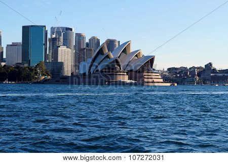 Sydney, Australia - Aug 2015: View Of Sydney Opera House, Famous Icon, On August 2015 In Sydney, Aus
