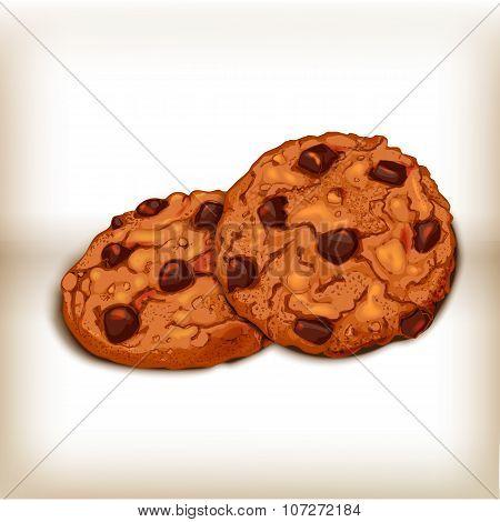 Cookies realistic illustration