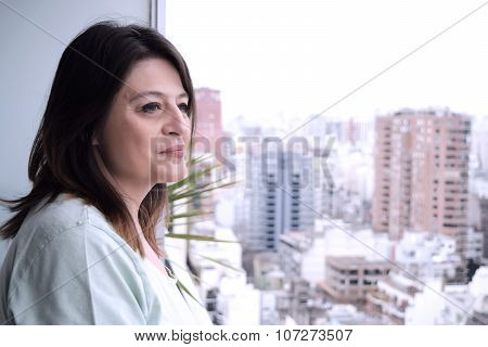 Portrait Of Middle Age Woman