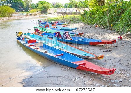 Boat parking near the river