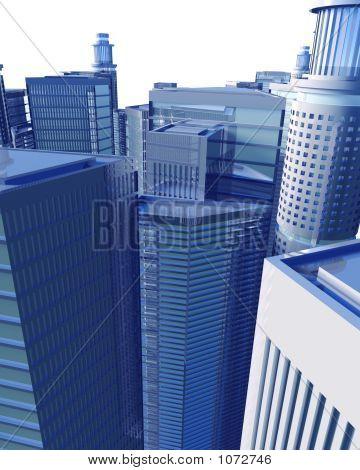 Paisaje urbano digital aislado