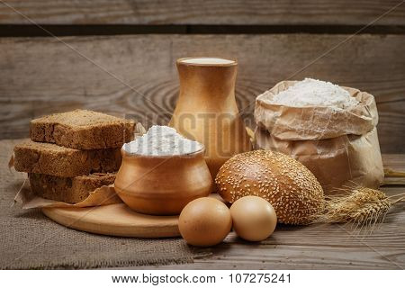Ingredients For Baking Bread And Pastry