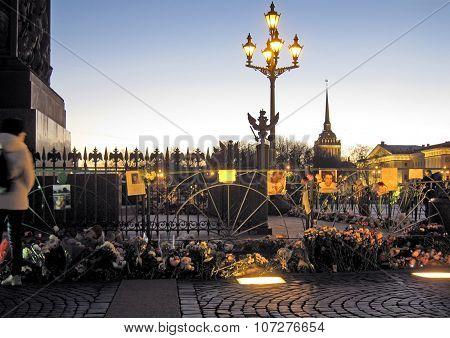 Saint-Petersburg. Russia. Memorial on The Palace Square