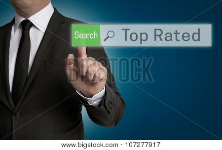 Top Rated Browser Is Operated By Businessman Concept