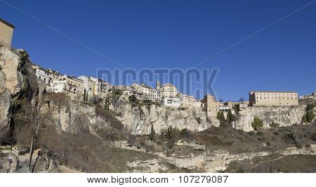 Panoramic Of Cuenca, Spain.
