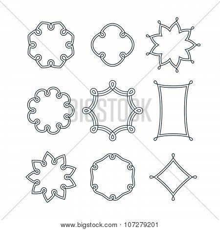 Set of Linear Decorative Frames
