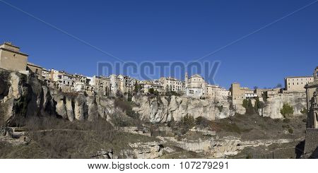 Panoramic Of Cuenca, Spain.